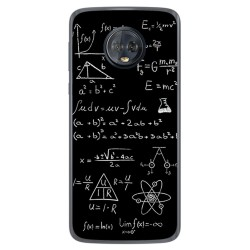 Funda Gel Tpu para Motorola Moto G6 Plus Diseño Formulas Dibujos