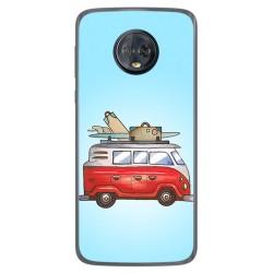 Funda Gel Tpu para Motorola Moto G6 Plus Diseño Furgoneta Dibujos