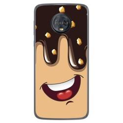 Funda Gel Tpu para Motorola Moto G6 Plus Diseño Helado Chocolate Dibujos