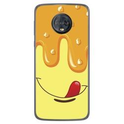 Funda Gel Tpu para Motorola Moto G6 Plus Diseño Helado Vainilla Dibujos