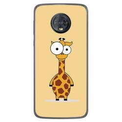 Funda Gel Tpu para Motorola Moto G6 Plus Diseño Jirafa Dibujos