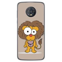 Funda Gel Tpu para Motorola Moto G6 Plus Diseño Leon Dibujos
