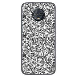 Funda Gel Tpu para Motorola Moto G6 Plus Diseño Letras Dibujos