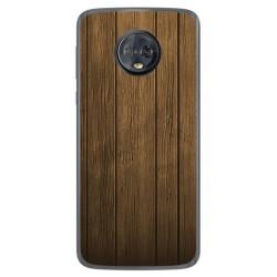 Funda Gel Tpu para Motorola Moto G6 Plus Diseño Madera Dibujos