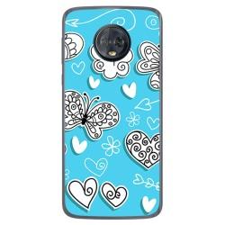 Funda Gel Tpu para Motorola Moto G6 Plus Diseño Mariposas Dibujos
