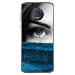 Funda Gel Tpu para Motorola Moto G6 Plus Diseño Ojo Dibujos