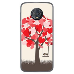 Funda Gel Tpu para Motorola Moto G6 Plus Diseño Pajaritos Dibujos