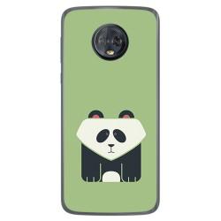 Funda Gel Tpu para Motorola Moto G6 Plus Diseño Panda Dibujos