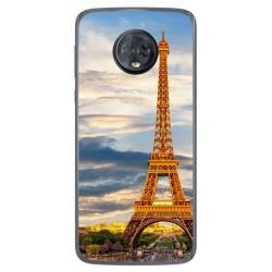 Funda Gel Tpu para Motorola Moto G6 Plus Diseño Paris Dibujos