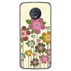 Funda Gel Tpu para Motorola Moto G6 Plus Diseño Primavera En Flor Dibujos