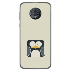 Funda Gel Tpu para Motorola Moto G6 Plus Diseño Pingüino Dibujos
