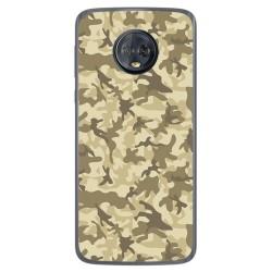 Funda Gel Tpu para Motorola Moto G6 Plus Diseño Sand Camuflaje Dibujos