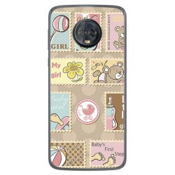 Funda Gel Tpu para Motorola Moto G6 Plus Diseño Sellos Dibujos