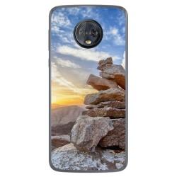 Funda Gel Tpu para Motorola Moto G6 Plus Diseño Sunset Dibujos