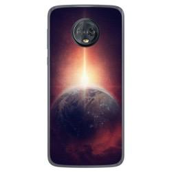 Funda Gel Tpu para Motorola Moto G6 Plus Diseño Tierra Dibujos