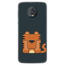 Funda Gel Tpu para Motorola Moto G6 Plus Diseño Tigre Dibujos