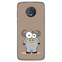 Funda Gel Tpu para Motorola Moto G6 Plus Diseño Toro Dibujos