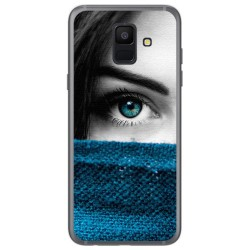 Funda Gel Tpu para Samsung Galaxy A6 (2018) Diseño Ojo Dibujos