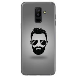 Funda Gel Tpu para Samsung Galaxy A6 Plus (2018) Diseño Barba Dibujos