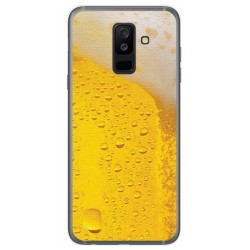 Funda Gel Tpu para Samsung Galaxy A6 Plus (2018) Diseño Cerveza Dibujos