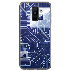 Funda Gel Tpu para Samsung Galaxy A6 Plus (2018) Diseño Circuito Dibujos