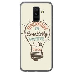 Funda Gel Tpu para Samsung Galaxy A6 Plus (2018) Diseño Creativity Dibujos
