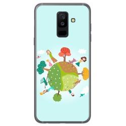 Funda Gel Tpu para Samsung Galaxy A6 Plus (2018) Diseño Familia Dibujos