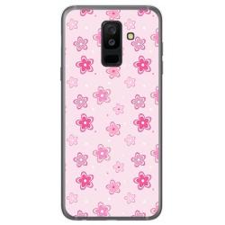 Funda Gel Tpu para Samsung Galaxy A6 Plus (2018) Diseño Flores Dibujos