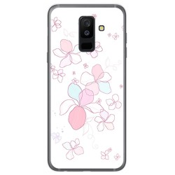 Funda Gel Tpu para Samsung Galaxy A6 Plus (2018) Diseño Flores Minimal Dibujos