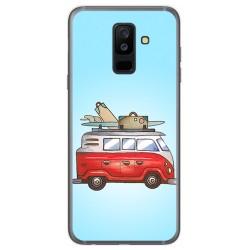 Funda Gel Tpu para Samsung Galaxy A6 Plus (2018) Diseño Furgoneta Dibujos