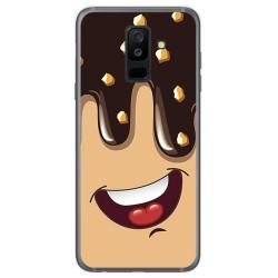 Funda Gel Tpu para Samsung Galaxy A6 Plus (2018) Diseño Helado Chocolate Dibujos