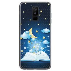 Funda Gel Tpu para Samsung Galaxy A6 Plus (2018) Diseño Libro Cuentos Dibujos