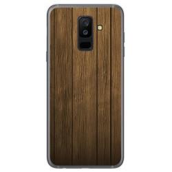 Funda Gel Tpu para Samsung Galaxy A6 Plus (2018) Diseño Madera Dibujos