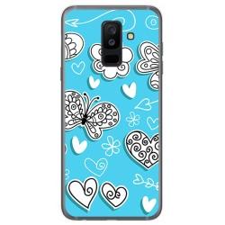 Funda Gel Tpu para Samsung Galaxy A6 Plus (2018) Diseño Mariposas Dibujos