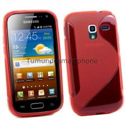 Funda Gel Tpu Galaxy Ace 2 I8160 S Line Color Roja