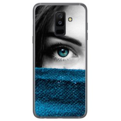 Funda Gel Tpu para Samsung Galaxy A6 Plus (2018) Diseño Ojo Dibujos