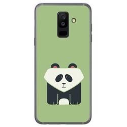 Funda Gel Tpu para Samsung Galaxy A6 Plus (2018) Diseño Panda Dibujos