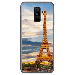 Funda Gel Tpu para Samsung Galaxy A6 Plus (2018) Diseño Paris Dibujos