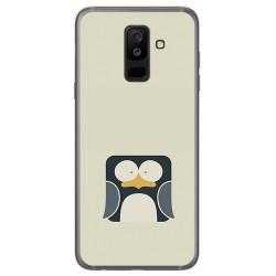 Funda Gel Tpu para Samsung Galaxy A6 Plus (2018) Diseño Pingüino Dibujos