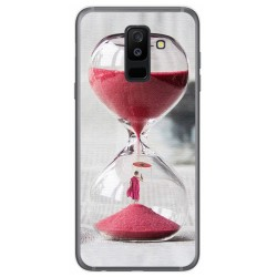 Funda Gel Tpu para Samsung Galaxy A6 Plus (2018) Diseño Reloj Dibujos