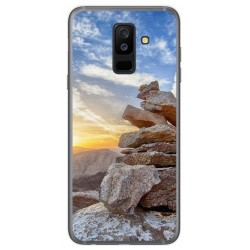 Funda Gel Tpu para Samsung Galaxy A6 Plus (2018) Diseño Sunset Dibujos