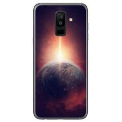 Funda Gel Tpu para Samsung Galaxy A6 Plus (2018) Diseño Tierra Dibujos