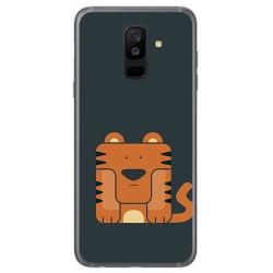 Funda Gel Tpu para Samsung Galaxy A6 Plus (2018) Diseño Tigre Dibujos