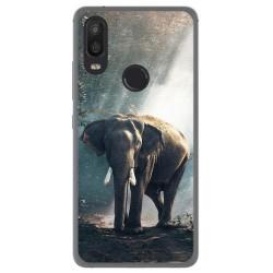 Funda Gel Tpu para Bq Aquaris X2 / X2 Pro Diseño Elefante Dibujos
