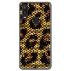 Funda Gel Tpu para Bq Aquaris X2 / X2 Pro Diseño Leopardo Dibujos
