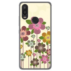 Funda Gel Tpu para Bq Aquaris X2 / X2 Pro Diseño Primavera En Flor Dibujos