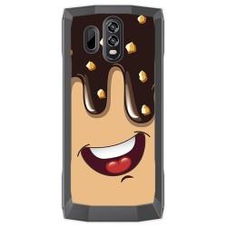 Funda Gel Tpu para Homtom HT70 Diseño Helado Chocolate Dibujos