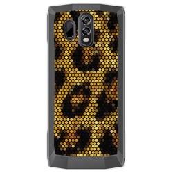 Funda Gel Tpu para Homtom HT70 Diseño Leopardo Dibujos
