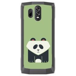 Funda Gel Tpu para Homtom HT70 Diseño Panda Dibujos