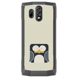 Funda Gel Tpu para Homtom HT70 Diseño Pingüino Dibujos